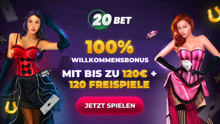 100% Willkommensbonus mit bis zu 120€ + 120 freispiele