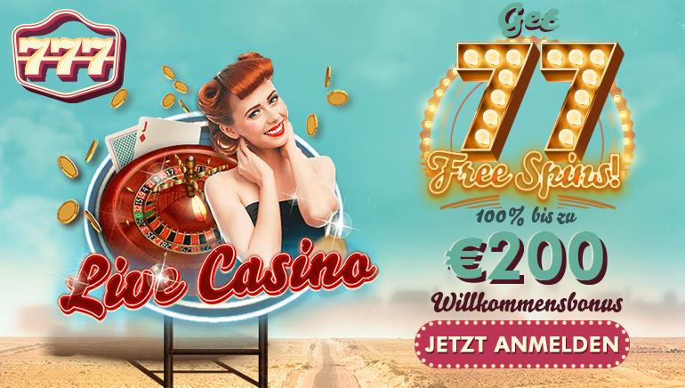 777 Casino gibt neuen Spielern 77 Freispiele