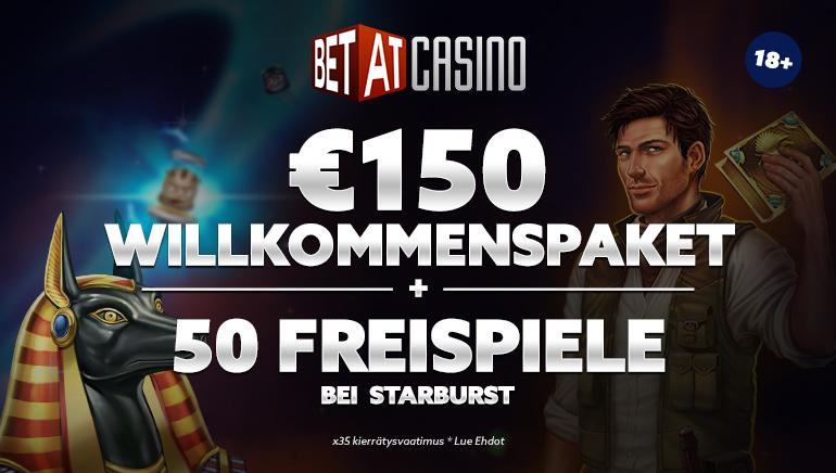 150 € Willkommensbonus und 50 Gratis-Spins im BETAT Casino verfügbar
