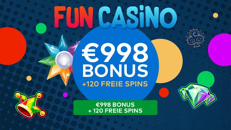 Fun Casino bringt eines seiner bisher ehrgeizigsten Werbeangebote heraus: 120 Freispiele und 998 €  Bargeld!