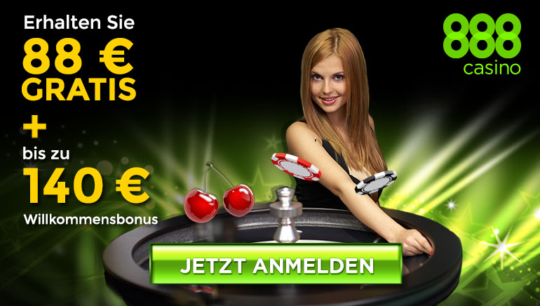 Rasanter Start: 88 € No Deposit +140 € Bonusguthaben für neue Spieler im 888Casino