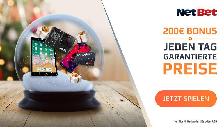 Für österreichische Spieler geht Weihnachten im NetBet Casino dieses Jahr bereits früher los