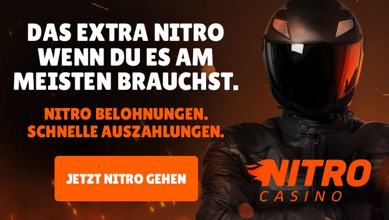 Entdecken Sie die Nitro Speed-Transaktionen und die täglichen Belohnungen von Nitro Spielbank