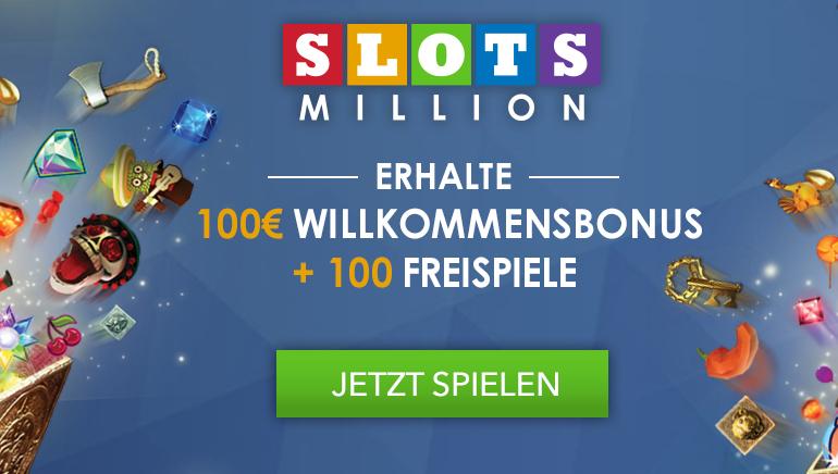 Beginnen Sie groß mit dem SlotsMillion Casino Willkommensbonus
