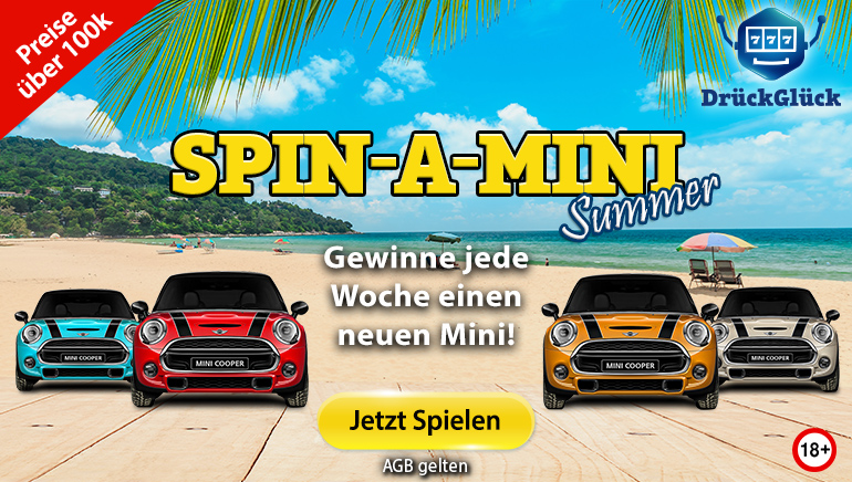 Neues Auto mit Spin-A-Mini im DrückGlück Casino diesen Monat zu gewinnen