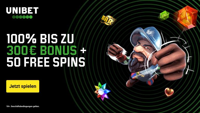 Unibet Casino bietet Freispiele und Match-Boni für österreichische Spieler