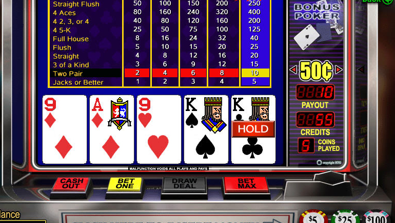 Play 4 Line Deuces Wild Videopoker Online at Casino.com NZ